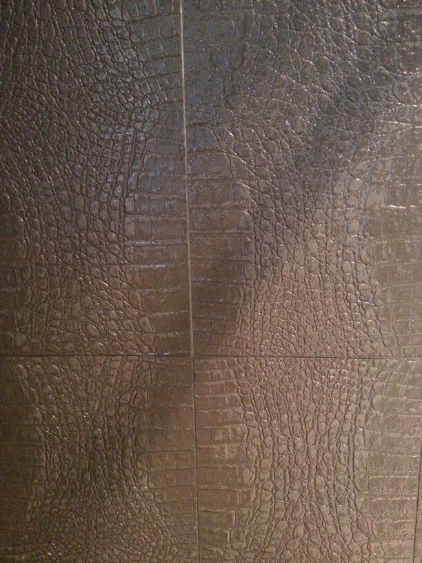 Embossed tile - this is in our shower