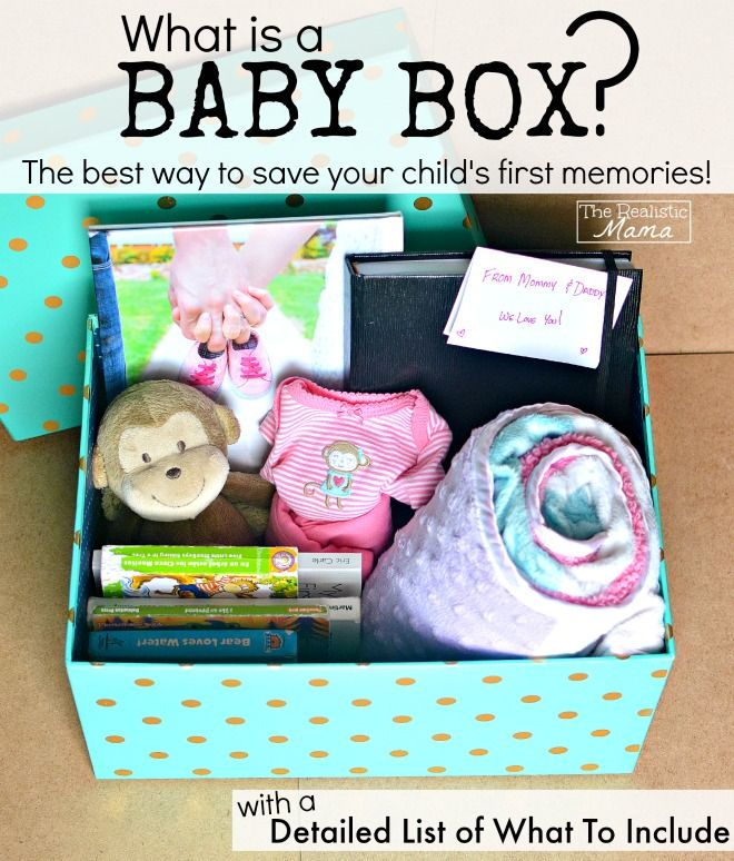How to make your baby a memory box - with a list of what to include. This can actually be done at any age!
