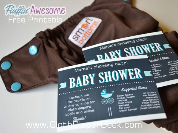 Free cloth diaper invitation insert to use to help guests know that you're making the choice to use cloth diapers for your baby. printable, cloth diapers, free printable