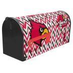 Red/Black/White Post Mount University of Louisville Mailbox