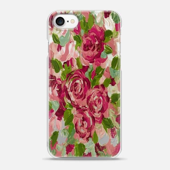 Casetify iPhone 7 Snap Case - ROSES AND ROMANCE 3, Floral Love Vintage Crimson Red Blush Pink Green Abstract Painting Flowers Garden Valentines Day Romantic Petals by Ebi Emporium #EbiEmporium #Casetify #CasetifyArtist @Casetify #flowers #style #floral #iPhoneCase #iphone7plus #iphone #iphone7 #iphone8 #iphone8plus #iphoneX #iphone6 #iphone6s #iphoneSE #Samsung #roses #clearcase #transparent #illustration #colorful #pretty #feminine #girly #chic #musthave #romance #romantic #love #red…