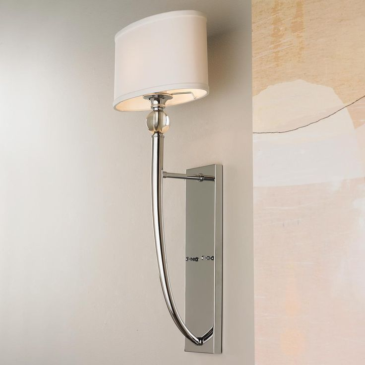 Chrome Sconce With Fabric Shade Zef Jam