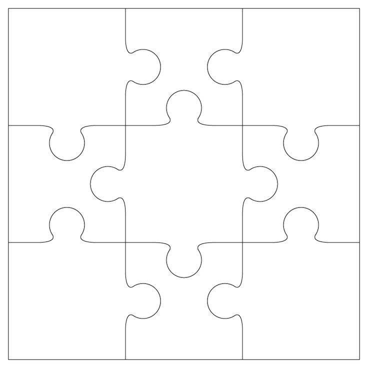 9 piece Jigsaw Template ... can be used with adult or child clients in therapy.....what things connect or make up your life