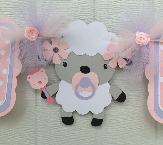 Baby shower banner its a girl lamb banner by NancysBannerBoutique, $35.00