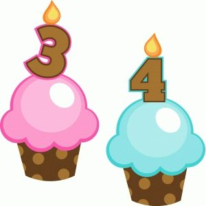 Silhouette Design Store: birthday cupcakes 3 and 4