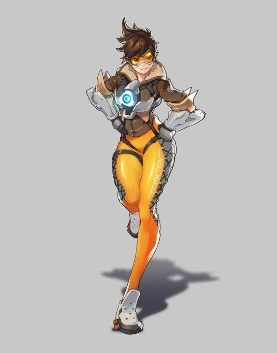 Overwatch - Fanart - Tracer, SungGuk Lee on ArtStation at https://www.artstation.com/artwork/wmlG6: