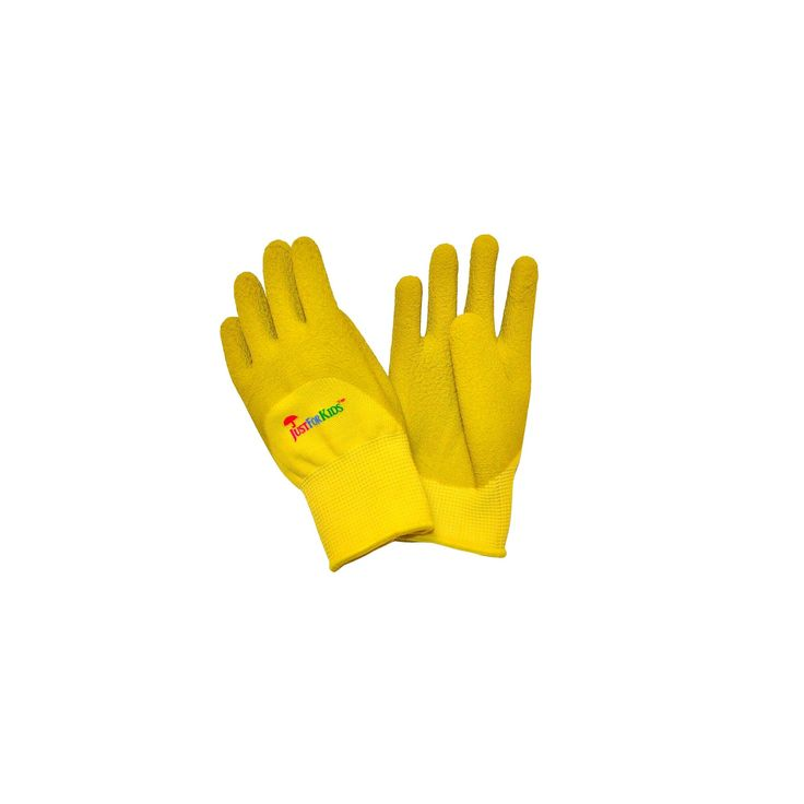 Premium Microfoam Texture Coated Kids Garden Gloves - Yellow - Justforkids