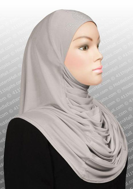 a nice decorative  one piece hijab... for ME i would put a scarf over it, but i love that the front has these gathers