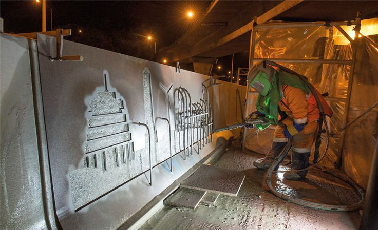 artwork engraving for motorway median barrier #Wellington
