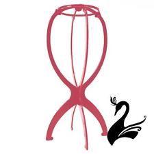 Шапка подставка для парик и вуалетка дисплей (пластиковая разборная) - пыльный, розовый-Craf