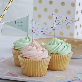 Cute and fun cupcake sticks are prefect for parties or even wedding cupcakes.
