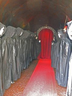 Free Haunted House Prop Ideas | would be super creepy if one of them was a person who moved. :)
