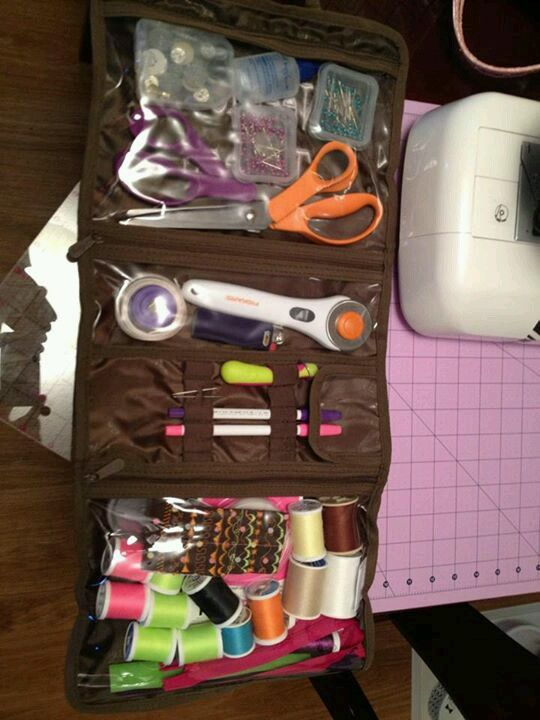 Timeless beauty bag for sewing.
