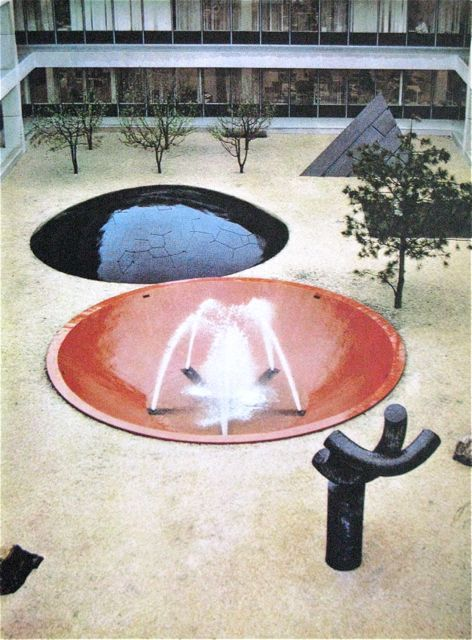 Isamu Noguchi, Gardens for Headquarters of IBM Armonk, NY. 1964 (via MONDOBLOGO: vintage noguchi in color)