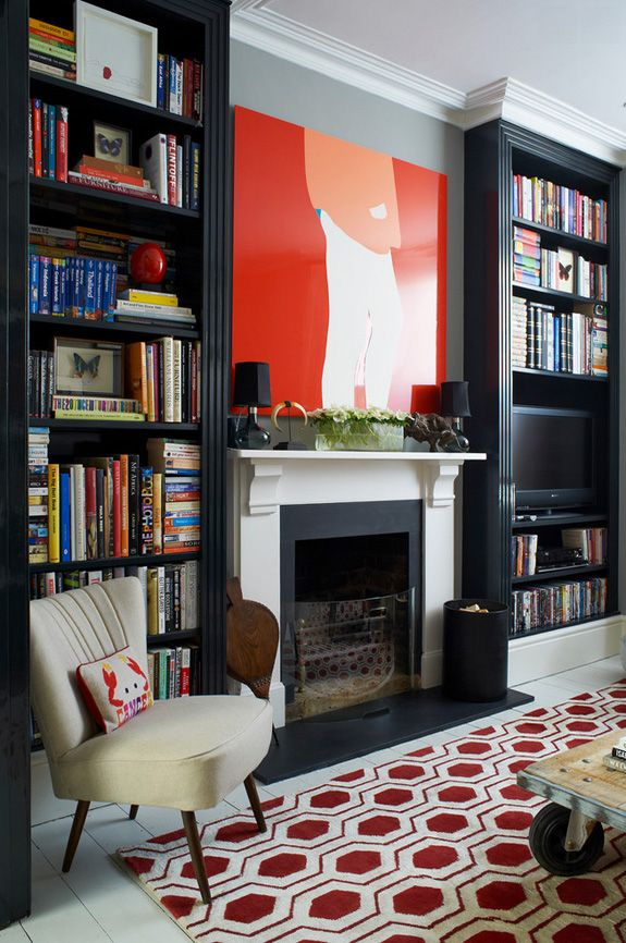 Lessons In Modernizing A Victorian Home Paint Some Moldings Black Add Graphic Elements