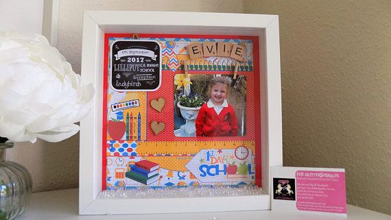First day at school photo frame First Day at school gift