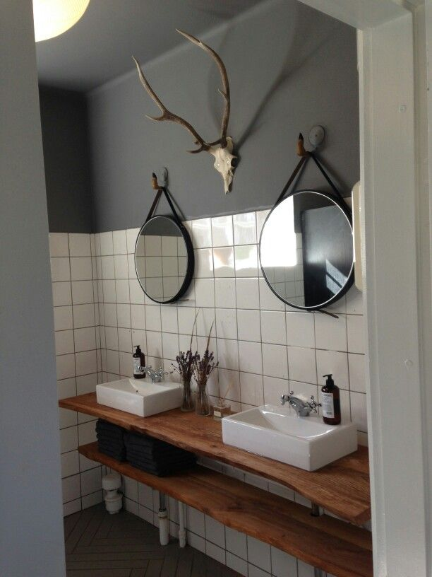 Look at the hooks for the mirrors