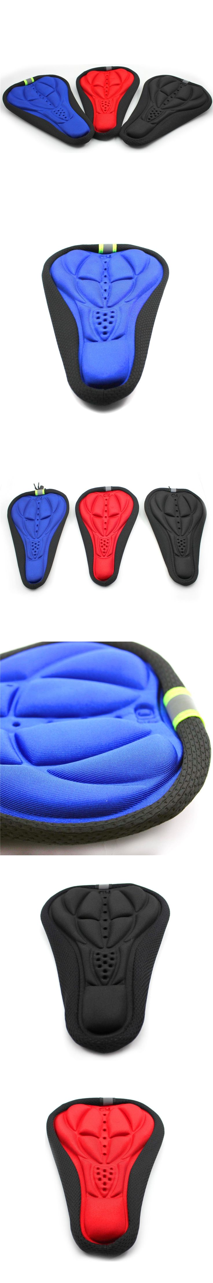 1X Cycling MTB Bike Bicycle 3D Thick Silicone Comfort Saddle Seat Cushion Cover Pad