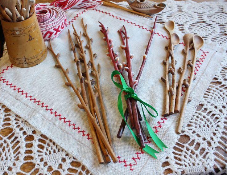 """Купить """"Веточки вербы"""" из дерева - коричневый, пасхальный сувенир, Пасха, верба, вербное воскресенье, подарок"""