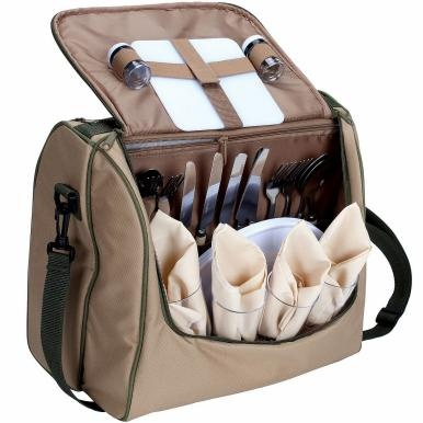 INSIDE OUT Kühl-u.Picknicktasche creme für 4 Personen