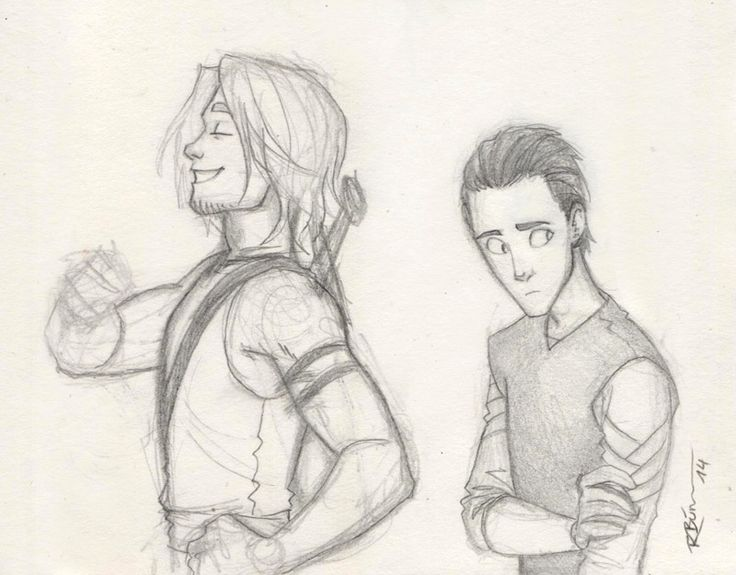 Young Thor and Loki by CaptBexx.deviantart.com on @DeviantArt