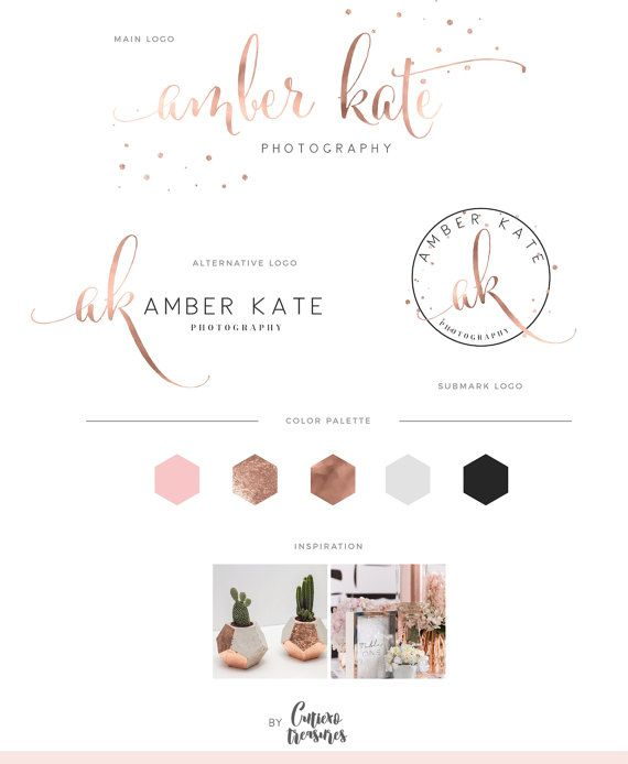 rose gold logo shimmer fancy logo  glitter by CutiexoTreasures