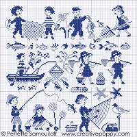 Gone fishing (large pattern) by Perrette Samouiloff