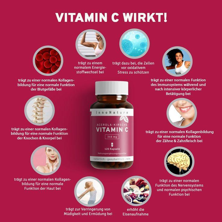 INFOS Natürliches Vitamin C aus der Acerola-Kirsche ✔Hochdosiert mit 346mg Vitamin CproTagesdosis (2 Kapseln), 120 Kapseln insgesamt ✔Hochwirksamer Inhaltss