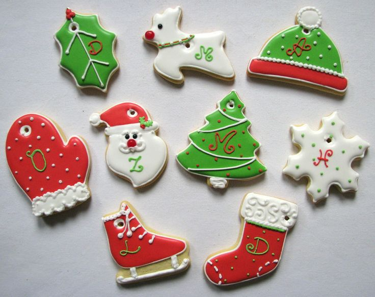 christmas cookies with names