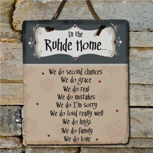 Family Name Slate Plaque | Personalized Home Decor