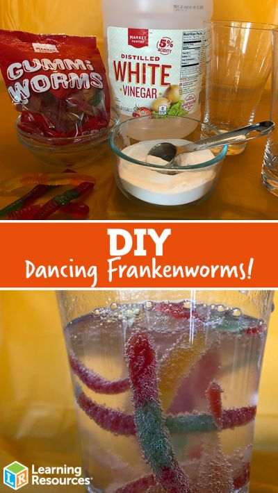 Dancing Worm Science DIY Candy comes alive with this simple science experiment o... 2