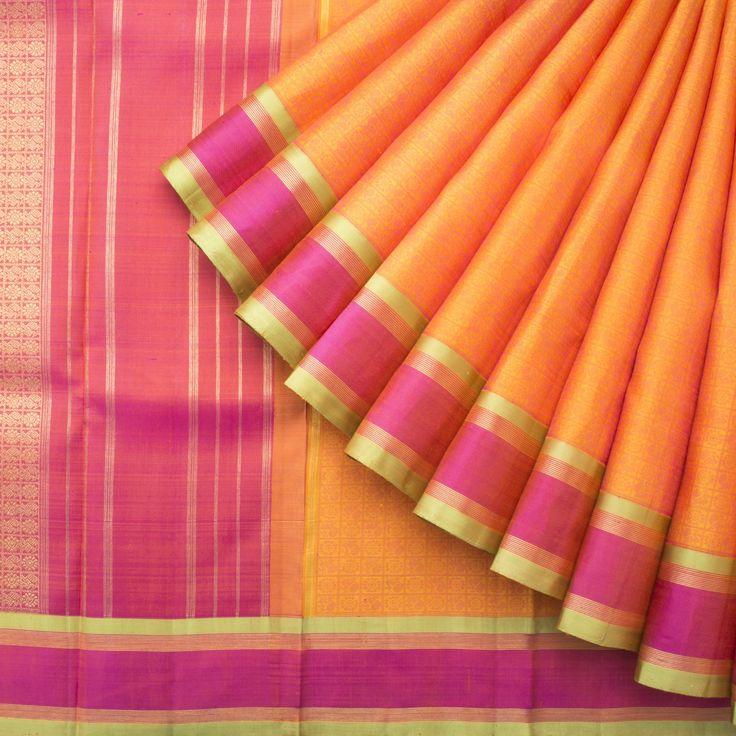 Kanakavalli Handwoven Kanjivaram Silk Sari 1014749 - Sari / Kanjivarams - Parisera