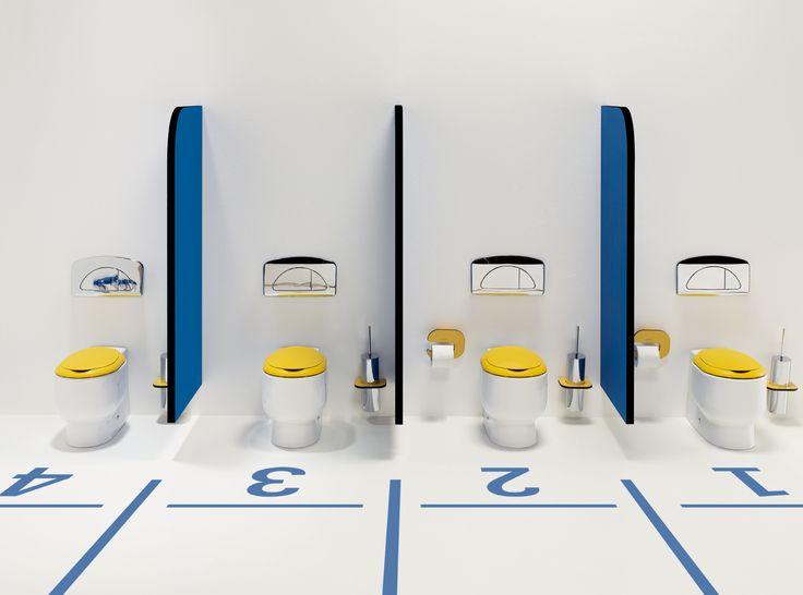 Baños Para Jardin De Ninos:Divertido diseño de #baños infantiles Wckids de #Sanindusa Puedes