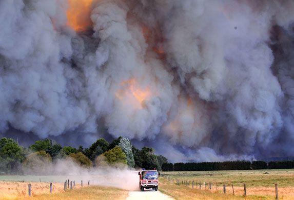 Bush fire, Australia Victorian bush fires black Saturday