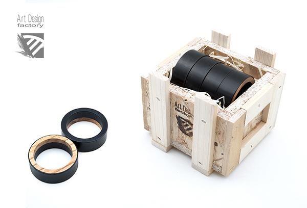 Art Design Factory - Product - steel wood napkin rings, contemporary italian design