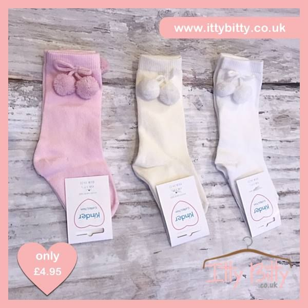 🎉 JUST ADDED - Itty Bitty Knee Length Pom Pom Socks  VIEW HERE: https://www.ittybitty.co.uk/product/itty-bitty-knee-length-pom-pom-socks/?utm_content=buffere3d26&utm_medium=social&utm_source=pinterest.com&utm_campaign=buffer #spanish #baby #clothes #socks #boutique #pink #girl