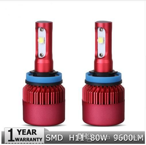 H11 LED Car Headlights CREE SMD Chips Led Fog Light Bulbs 80W 9600lm 6500K White Auto Led Headlamp 12v 24v Car Lighting - $60.99