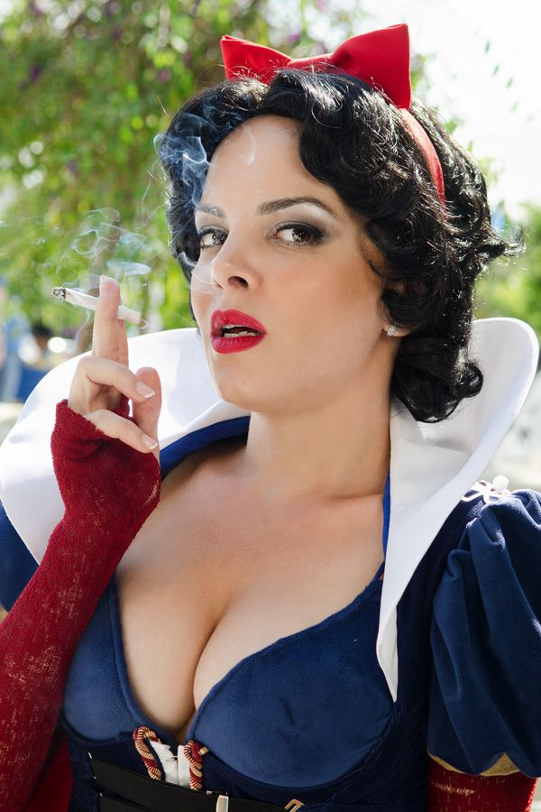 Smoking Snow White Cosplay At San Diego Comic Con Taken By