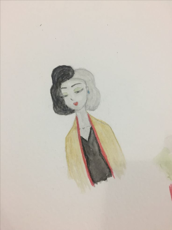 Cruella DeVill (watercolours) ~Tabs