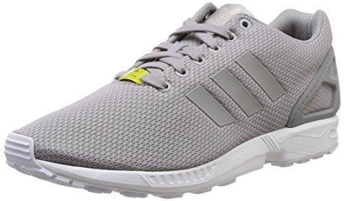 Oferta: 66.25€. Comprar Ofertas de adidas ZX Flux - Zapatillas deportivas para hombre, color plata / blanco, talla 45 1/3 barato. ¡Mira las ofertas!