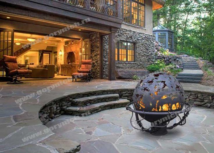 Уличный камин с функцией мангала. Fire pit