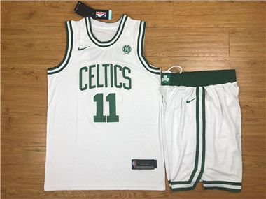 Nike Celtics  11 Kyrie Irving White Swingman Jersey(With Shorts ... a81a0c900