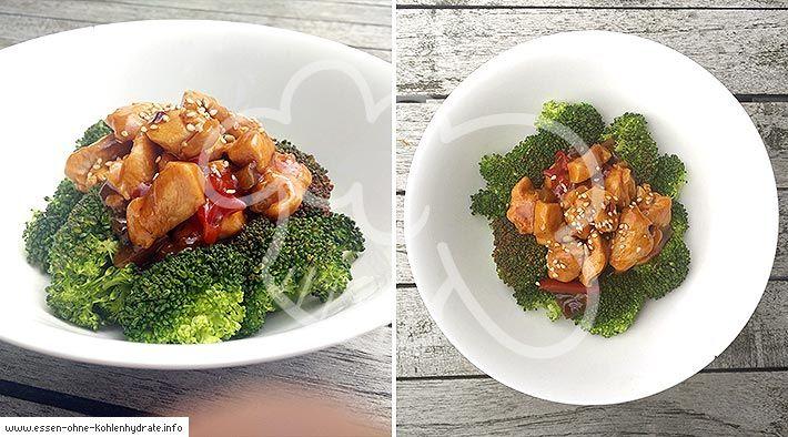 Low-Carb Chicken-Brokkoli Bowl