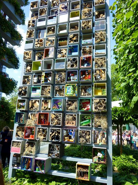 """An """"Insect Hotel"""" in the BQ Garden at the RHS Chelsea Flower Show 2011 