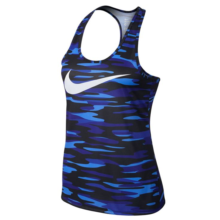 Nike singlet Legend racerback blue print dames bij Hardloopaanbiedingen.nl #Nike #running #hardlopen #singlet