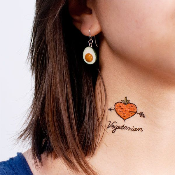 designy temporary tattoos. and check out that rad avocado earring.