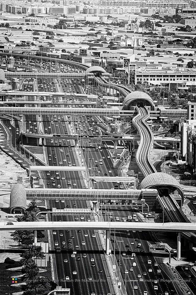 Sheikh Zayed Road u0026 Metro Dubai