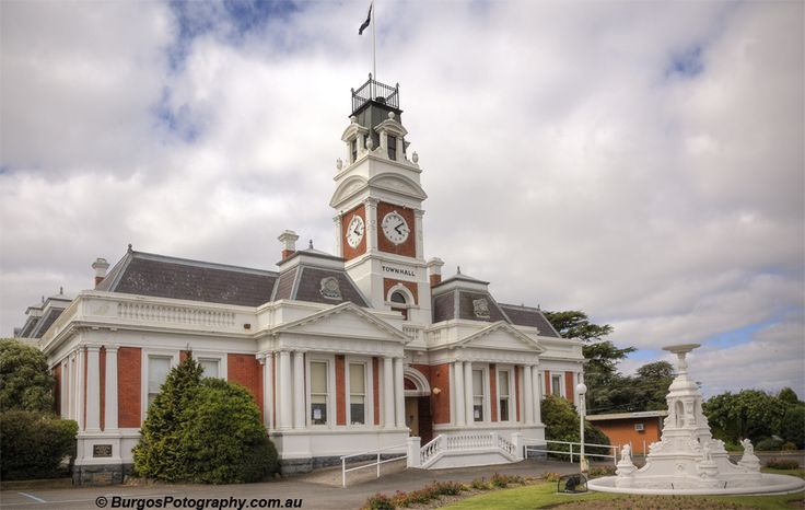 Ararat Town Hall. Taken in the rural town of Ararat in Victoria, Australia. Majestic town hall built on money guring the great gold rush.