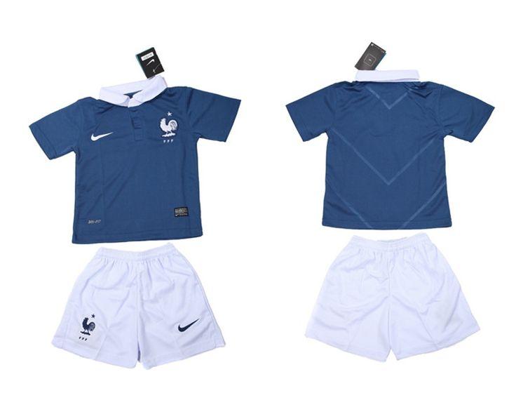 Francia Maglie Calcio Mondiali 2014 Bambini Set Casa