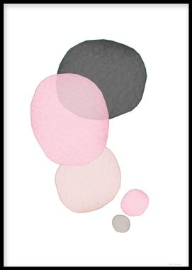 An art poster with aestetic pastel shades of pink, beige and grey. This print goes well with some of our other art posters in an art collage on a wall or shelf. Desenio.co.uk